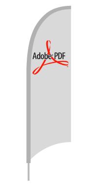 Beachfahne Eventflag FlipFlag Fahne Vorlage PDF Illustrator EPS