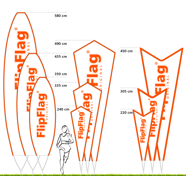 FlipFlag Shape - Das auffallend frische Beachflag System