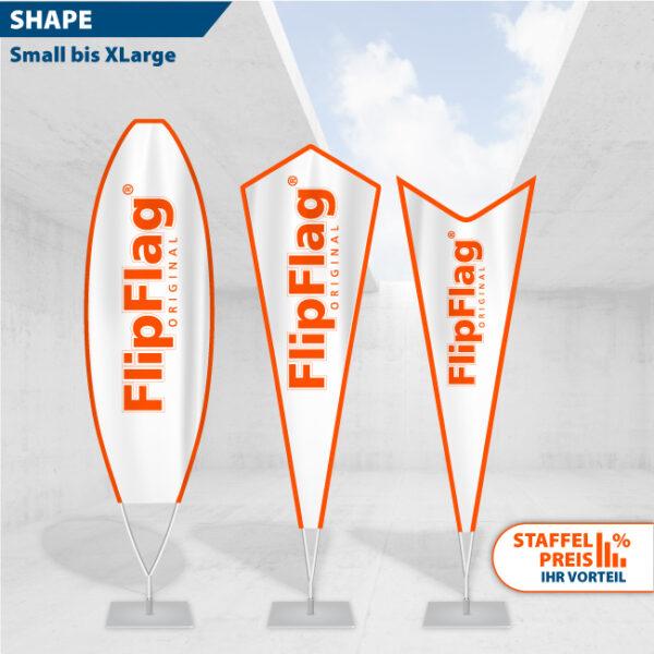 FlipFlag SHAPE - Das Beachflag mit der besonderen Aussenform