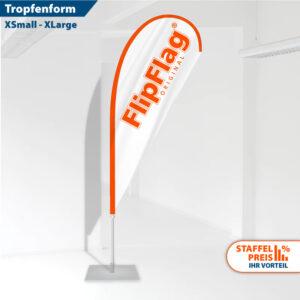 FlipFlag Beach-Fahne mit Druck von FlipFlag