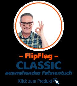 Beachflag FlipFlag gerade Unterkante