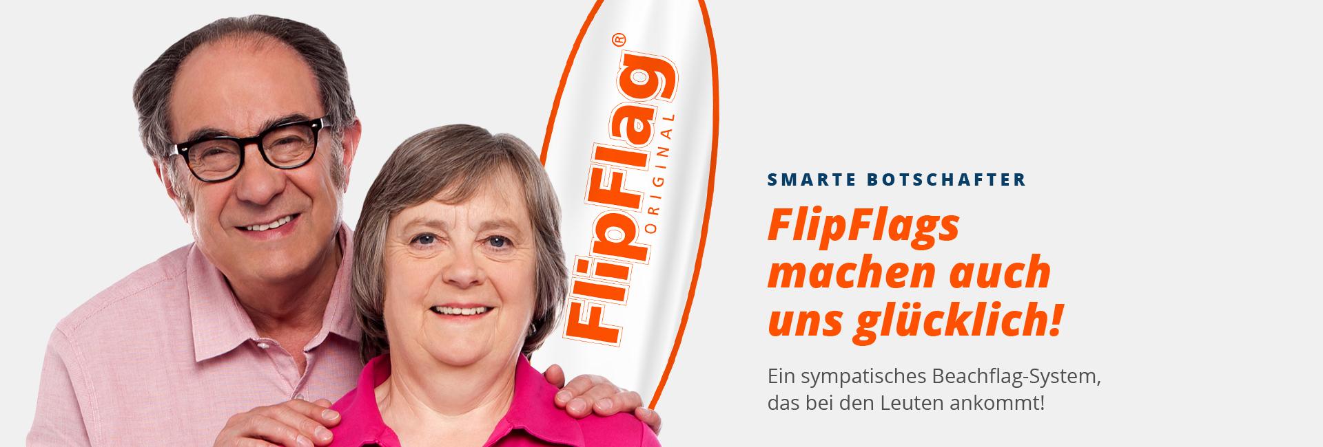 Fahnen als Beachflags von FlipFlag - Einfach online bestellen im Shop
